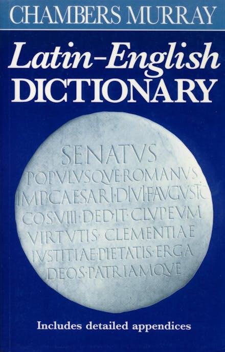 Chambers Murray Latin-English Dictionary by Chambers - Books