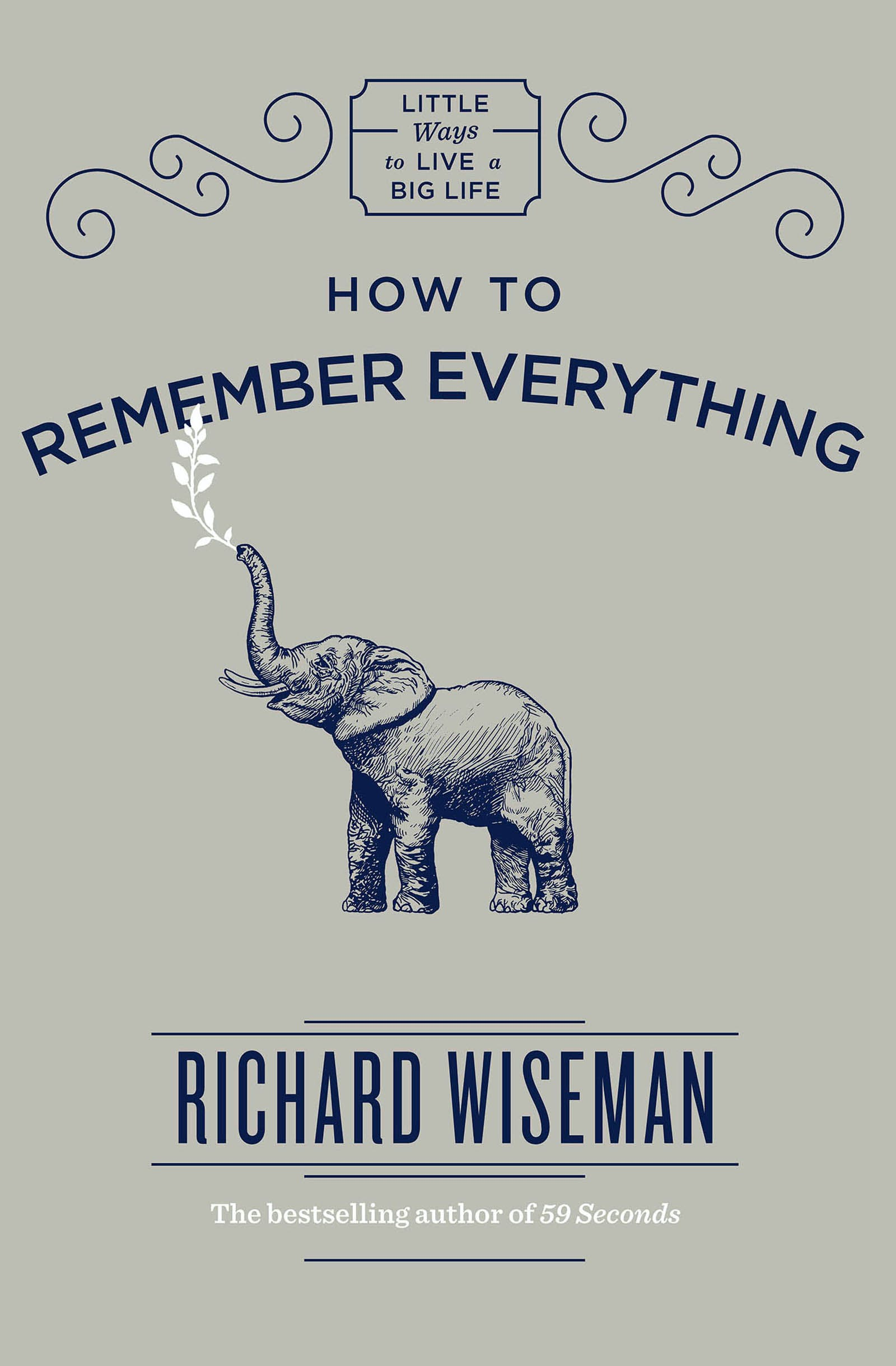 59 Seconds Richard Wiseman how to remember everythingrichard wiseman - books