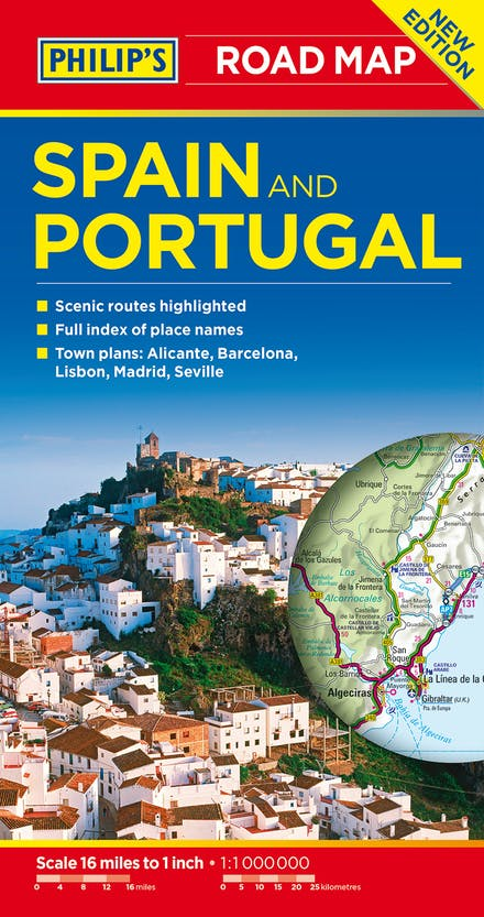 Road Map Of Spain.Philip S Spain And Portugal Road Map By Philip S Maps Books