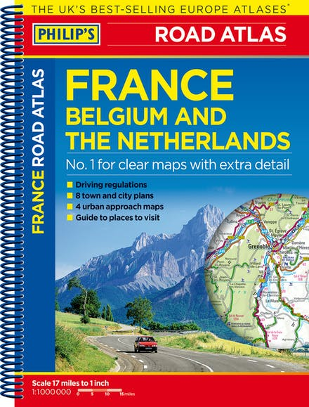 Philip\'s Road Atlas France, Belgium and The Netherlands: Spiral A5 ...