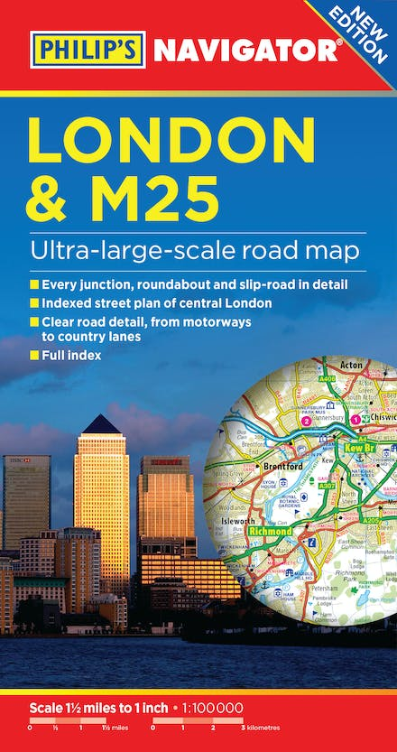Philip's London and M25 Navigator Road Map by Philip's Maps